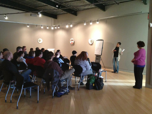 Carter Arts Center with Penn Valley Arts students discussing Arts & Culture in Kansas City. They gave awesome feedback and ideas.