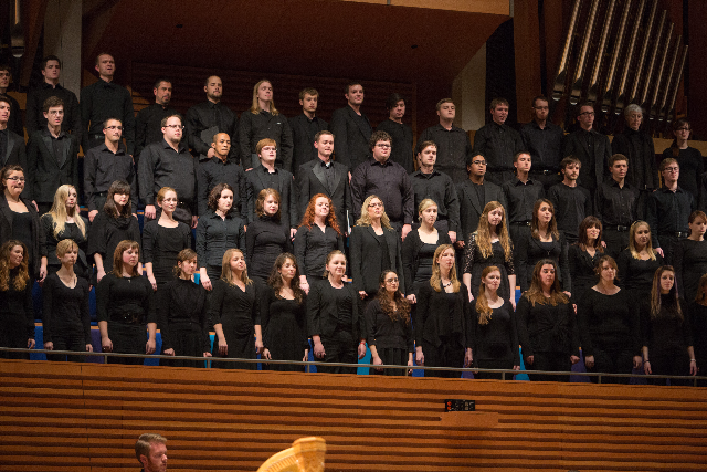 UMKC Conservatory choirs perform during Crescendo 2012 in Helzberg Hall.