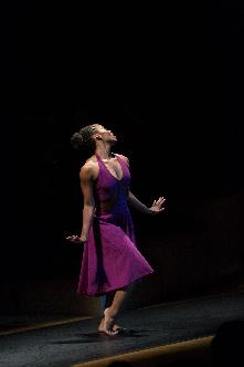 UMKC Conservatory dance student Shacura Wade performs Ms. Shakura's Blues during Crescendo 2012 in Helzberg Hall.<br/>photo: James Allison