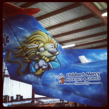 Children's Mercy Hospital air ambulance, painted by Scribe... <br/>?how cool is that?