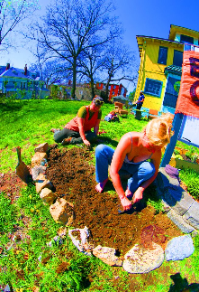Emerald City:  Sustainability, Community, Art, Troost, Growing food!