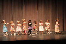 Dancers from the Community Music and Dance Academy's beginner dance classes perform during the end-of-semester Academy Honors Recital.