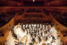 The Kansas City Symphony in Helzberg Hall at the Kauffman Center for the Performing Arts.