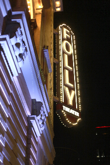 On 11/3/12 the Folly Theater celebrated the lighting of it's new marquee sign, the first since 1974. This is a beautiful historic theater!
