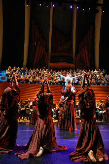 The UMKC Conservatory students rehearsing Carmina Burana on the Helzberg Hall stage, 2012!