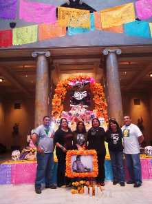 Mattie Rhodes Art Center Altar for Dia de los Muertos at the Nelson Atkins Museum of Art.