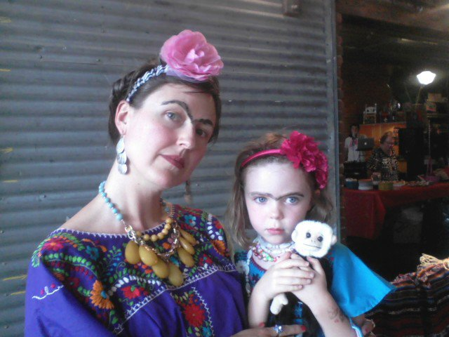 1st place winner of the Frida Look-a-Like contest at the Mattie Rhodes Gallery