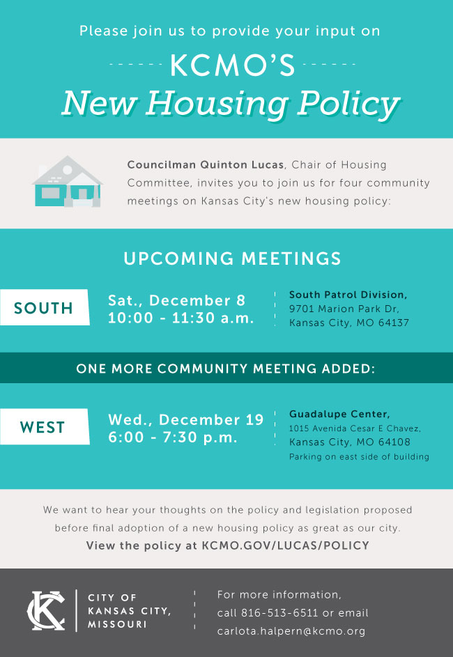 Public Input Requested for City Five Year Housing Policy