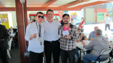 Mayor Stanton at Food Truck Friday on October 26.