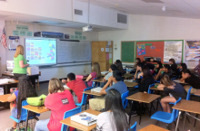 PlanPHX staff presenting to students at Career Day at Cholla MIddle School.