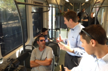 Mayor Stanton discussing resident's Big Ideas for Phoenix's future on Light Rail.