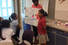Kids presenting their BIG Ideas at the Longview Neighborhood Recreation Center