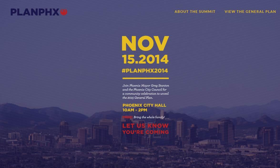 PlanPHX Summit November 15, 2014