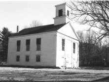 This historic meeting house in Ware Center was built in 1799. It was damaged in a fire in 1986 and is being restored.
