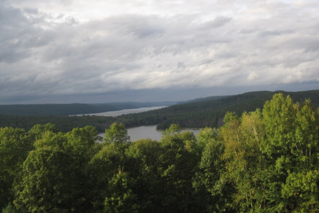 The Quabbin on a stormy day.