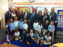 Rotarians visit Avondale Elem on Nov. 6 to visit the United Way Success By 6 4K classrooms. Thankful for these invaluable partnerships!