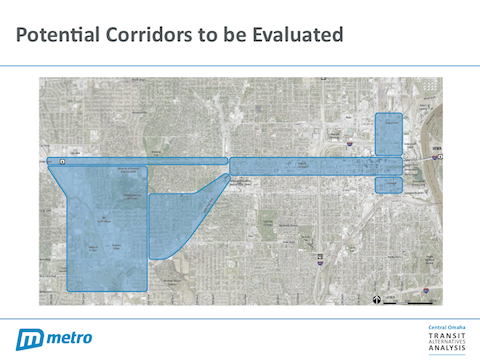 Potential Corridors to be Evaluated