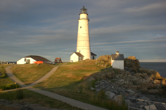 Boston Light on Little Brewster Island in Boston Harbor. BL has been a symbol of sustainability for almost 300 years.