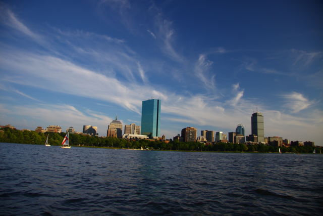 Boston skyline from the deck of a Boston icon: a Duck!