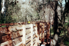 Humbug Creek Trail, Jim Konopka Volunteer Bridge