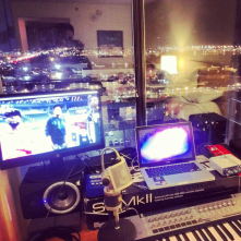 Producing music overlooking Vegas planes and Vegas Lights. #Motivation to #Wynn