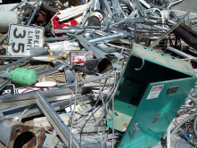Part of the City recycling program - scrap metal pile