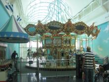 The carousel in Arden Fair Mall