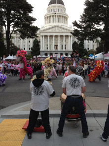 2013 Making Strides Against Breast Cancer Walk. Eastern Ways Martial Arts Lion Dancers kicked it off!
