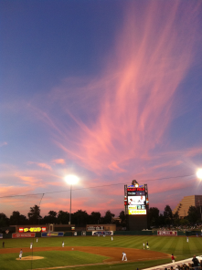 A River Cats game at Raley Field