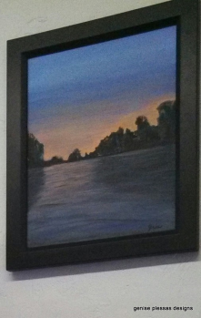 I was so inspired by the convergence of the two rivers, I painted a picture of it!