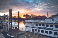 Old Sacramento looks great in the sunset...