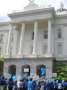 The beautiful State Capitol. This was taken at a rally for Parent Voices, a child care advocacy group.