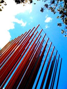 painted poles, sacramento sky.