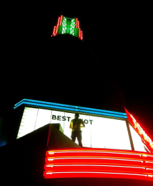 changing the marquee, tower theatre.