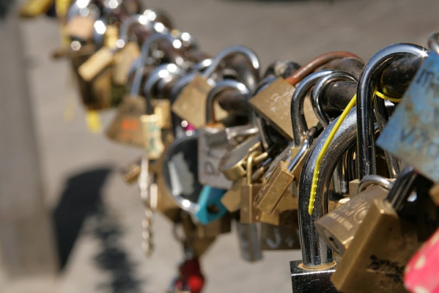 Locks of Love is a railing along the Sacramento River where lovers place padlocks and throw the key into the river to seal their love.