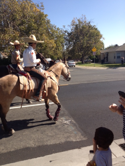 The 7th Annual Hispanic/Latino parade, 12th Avenue & Franklin Blvd., Oct 2012.  Charro horses, classic cars, Aztec& Folklorico dance, bandas