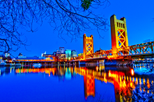 A view across the river looking at Old Sacramento and the Tower Bridge. This is my favorite picture of the city.