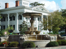 Kenan Fountain and Bellamy Mansion at 5th Avenue and Market Street