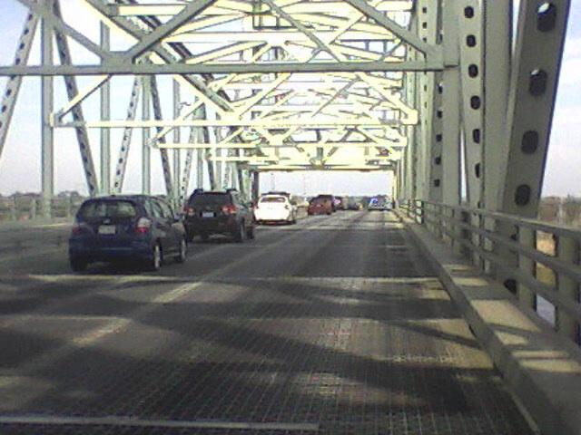 On the Cape Fear Bridge headed to Brunswick County