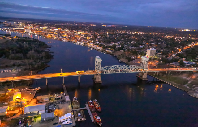 Downtown Wilmington just before dark
