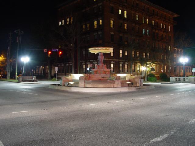 Night photo of 5th/Market