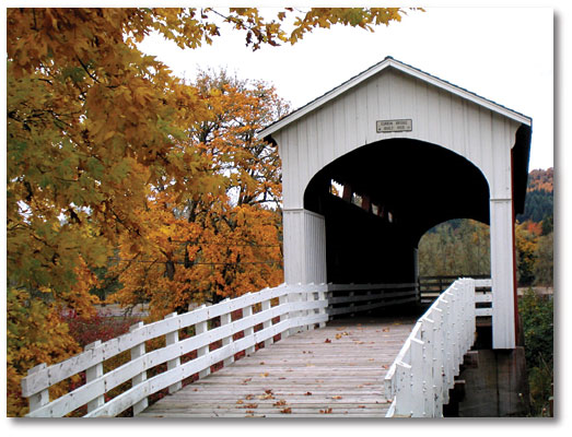Currin Bridge in the Autumn.  Photo by Mike Jackson