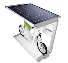 Charging station with solar power: the spanish company Electric Mobility Company (EMC) has designed this station called Spark