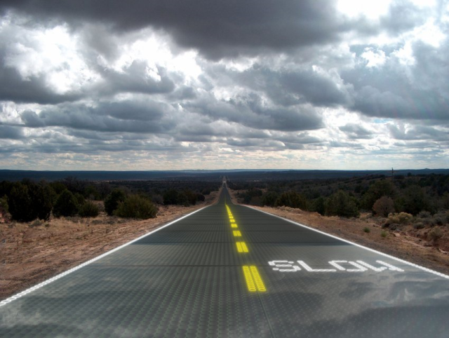 Sandpoint, Idaho-based Solar Highways is designing a 12' x 36' solar parking lot using solar panels engineered for vehicles