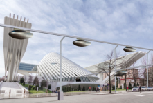 Elevated monorail concept designed by NASA.