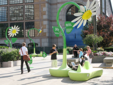 Solar Powered Gadget Charging Wi-Fi Flowers