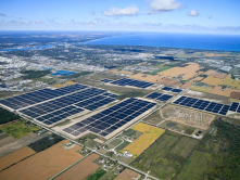 1.3 million First Solar modules  at the Sarnia Solar Farm in Ontario, Canada
