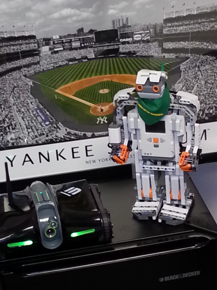 Bison Bot and Rover 2.0 prepare to assist baseball fans who will attend Yankee Stadium on opening day of the 2014 MLB season!