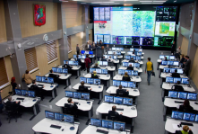 traffic monitoring center in Moscow