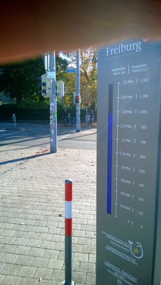 Bicycle counter installed in Freiburg, Germany